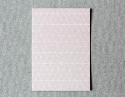 Postkarte Gitter Raute rosa von Perlenfischer