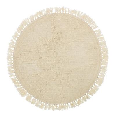 Teppich aus Wolle - natur