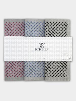 3er Set Schwammtücher Hamburg - von kiss my kitchen