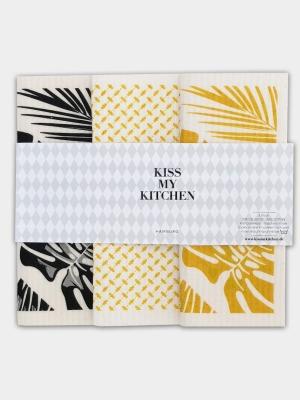 3er Set Schwammtücher Malibu - von kiss my kitchen