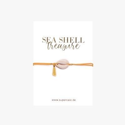 Armband MUSCHEL ORANGE/GELB - von SuperCalé