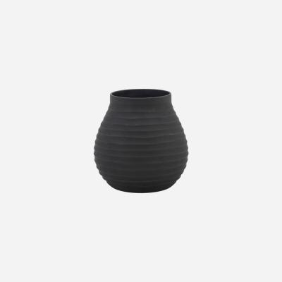 Vase Groove Schwarz -w: cm h: