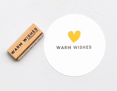 Stempel warm wishes - von Perlenfischer