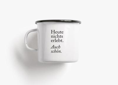 Emaille Becher auch schön - 300ml