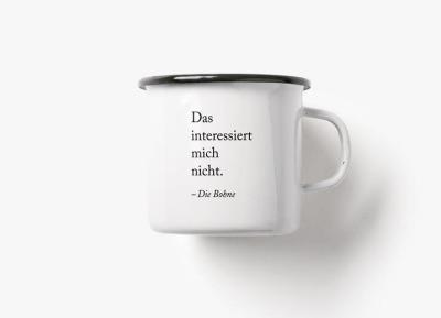 Emaille Becher Die Bohne - 300ml