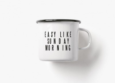 Emaille Becher easy like sunday morning - 300ml