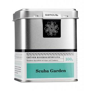 samova Tee Scuba Garden Dose, 100g - Grüner Rooibos/Spirulina - Teeinfreie Spezialität mit Algen und Cranberry