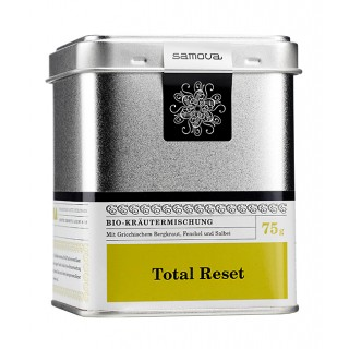 samova Tee Total Reset Dose, 75g - Bio-Kräutermischung - Mit Griechischem Bergkraut, Fenchel und Salbei