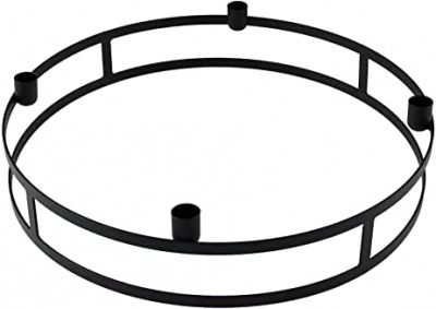 Kerzenring Topino schwarz für Stabkerzen D30x9
