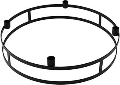 Kerzenring Topino schwarz für Stabkerzen D42xH9