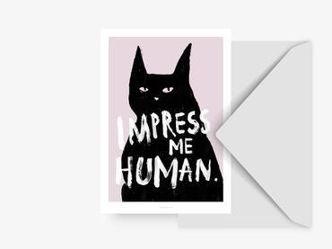 Postkarte impress me - ohne Umschlag