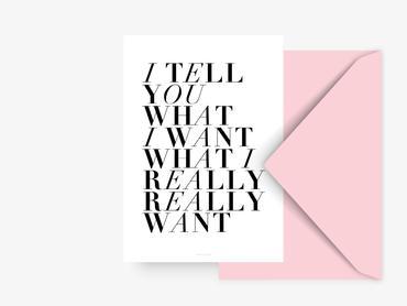 Postkarte I tell you - ohne Umschlag