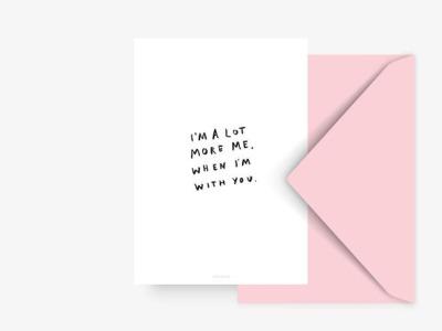 Postkarte more me - ohne Umschlag
