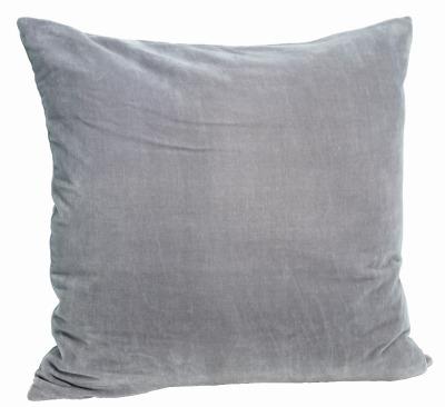 Kissenbezug Velvet hellgrau/blau - 50x50 cm