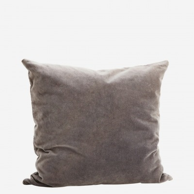 Kissenbezug Velvet dunkelgrau - 50x50 cm