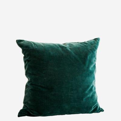 Kissenbezug Velvet dunkelgrün - 50x50 cm