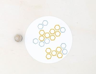 Stempel Honigwabe - von Perlenfischer