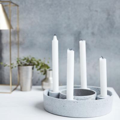 Kerzenständer the ring in Betonoptik für