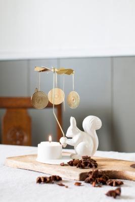 Teelicht Winterstories SQUIRREL Dottir Nordic Design