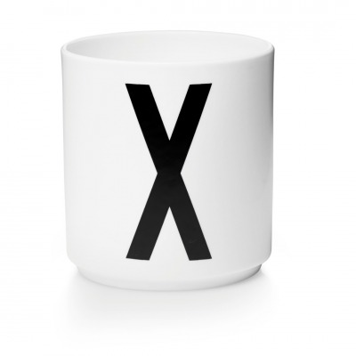 Porzellanbecher X - Design Letters