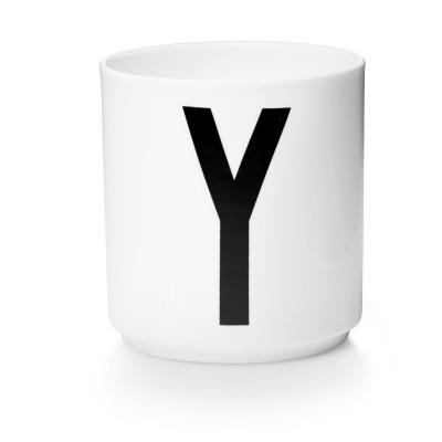 Porzellanbecher Y - Design Letters