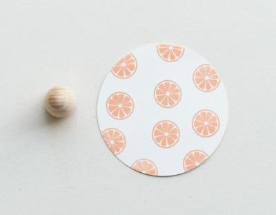 Stempel Zitronenscheibe klein - von Perlenfischer