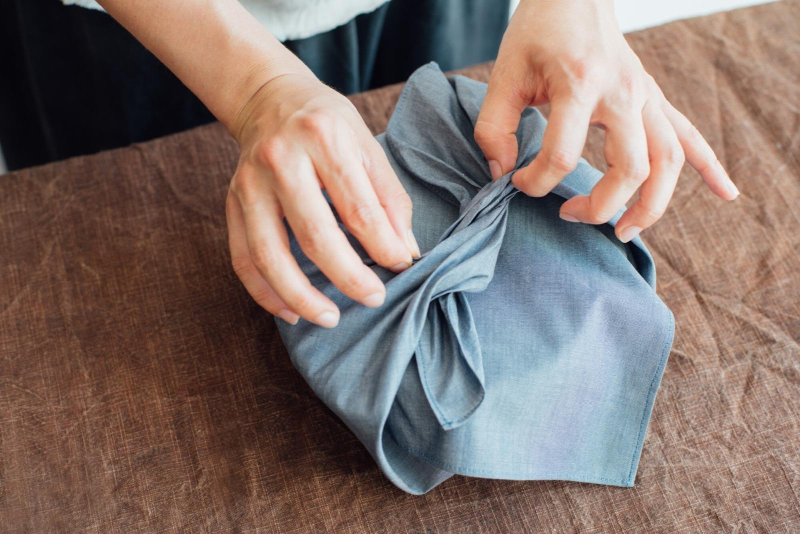 Furoshiki / organic cotton medium 70