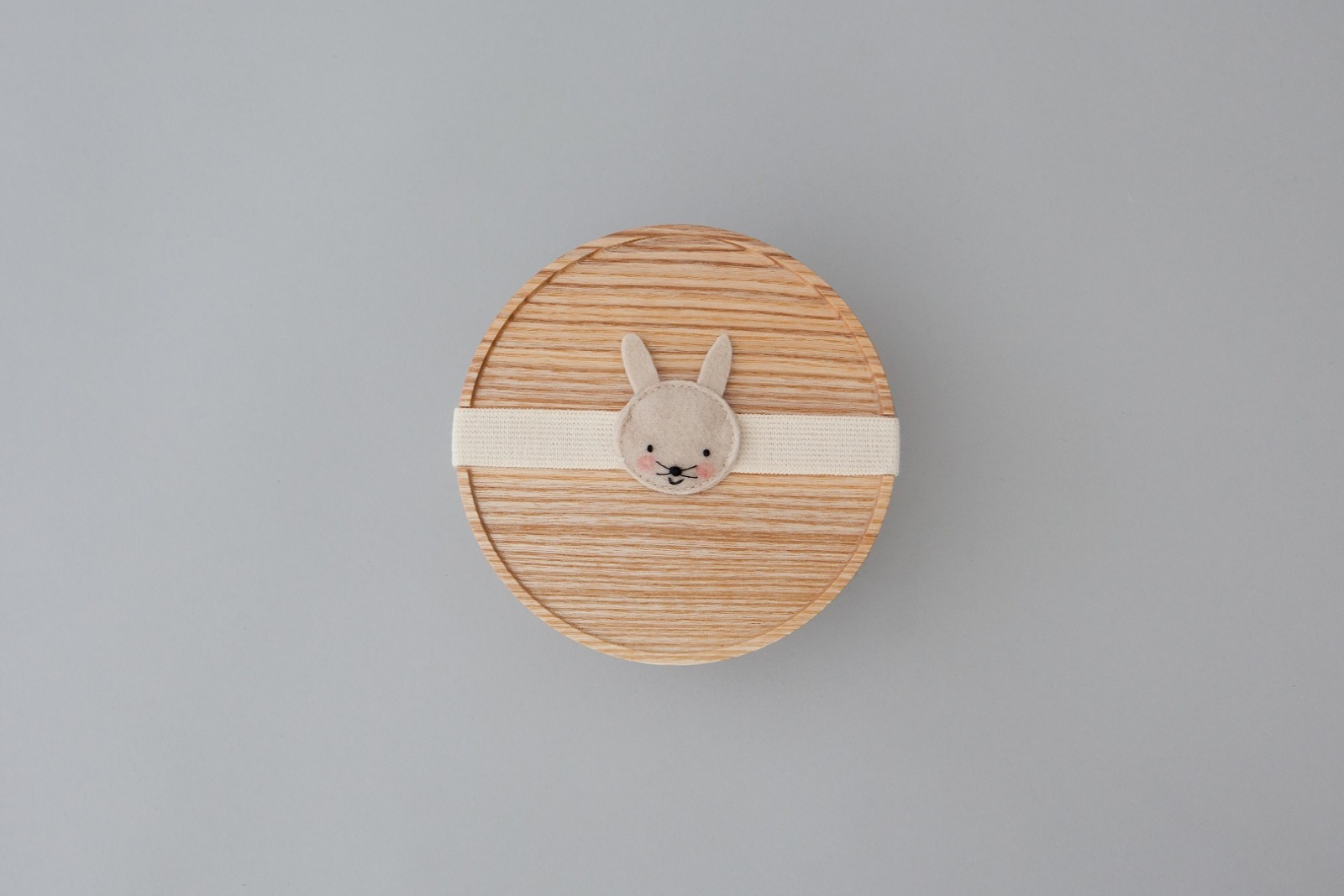 eshly Stretch Kids bunny / organic elastic band for eshly box small and medium / 16 cm / virgin wool felt
