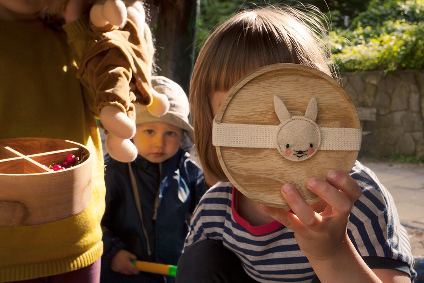 eshly Stretch Kids bunny / organic elastic band for eshly box small and medium / 16 cm / virgin wool felt - 4