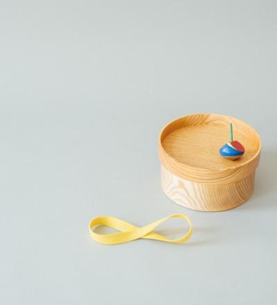 eshly deli Box Basic Large 28fl. oz./830 ml 6,1 inch/155 mm organic rubber band - stackable Bentobox from pure massiv ash wood