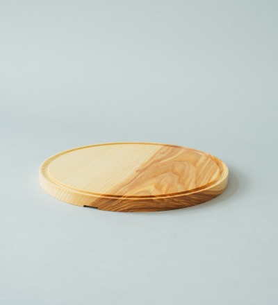 eshly Deli Cutting Board - round cutting board made of pure unglued ash wood