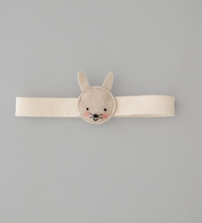 eshly Stretch Kids bunny / organic elastic band for eshly box small and medium / 16 cm / virgin wool felt - organic plastic free bento belt with animal from south german virgin wool felt