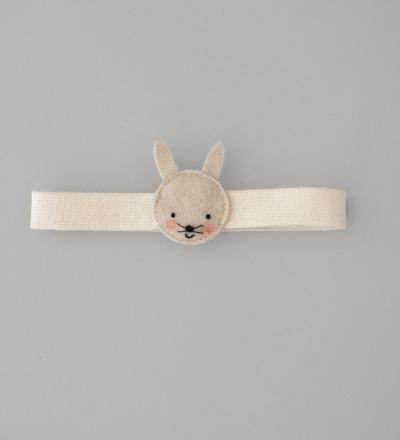 eshly Stretch Kids Bunny / biologisches Gummiband fuer eshly box Small and Medium / 16 cm - biologisches Gummiband mit Tieren aus 100 reinem sueddeutschem Wollfilz