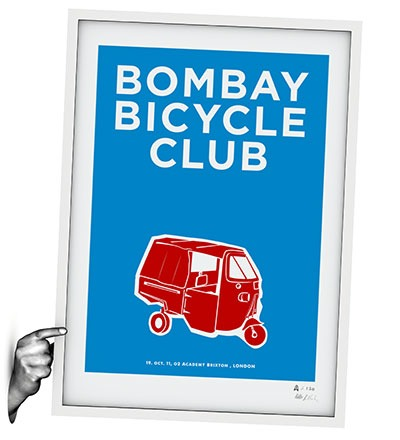 BOMBAY BICYCLE CLUB - Siebdruck