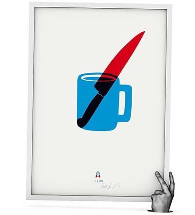 CUP & KNIFE - Siebdruck