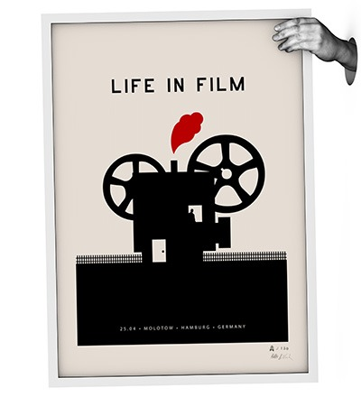 LIFE IN FILM - Siebdruck