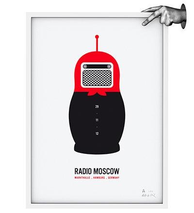 RADIO MOSCOW - Siebdruck