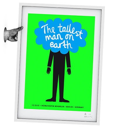 THE TALLEST MAN ON EARTH Siebdruck