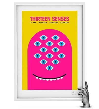 THIRTEEN SENSES - Siebdruck