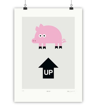 PIG UP - Kunstdruck