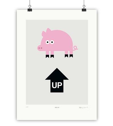 PIG UP - Kunstdruck