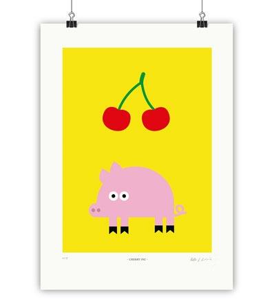 CHERRY PIG - Kunstdruck