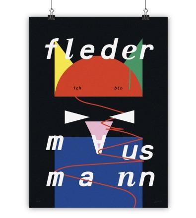 FLEDERMAUS MANN - Kunstdruck
