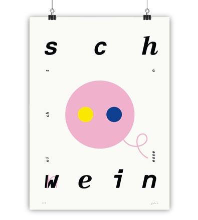 SCHWEIN - Kunstdruck