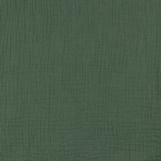 Musselin EUR/m staubiges grün oliv Double
