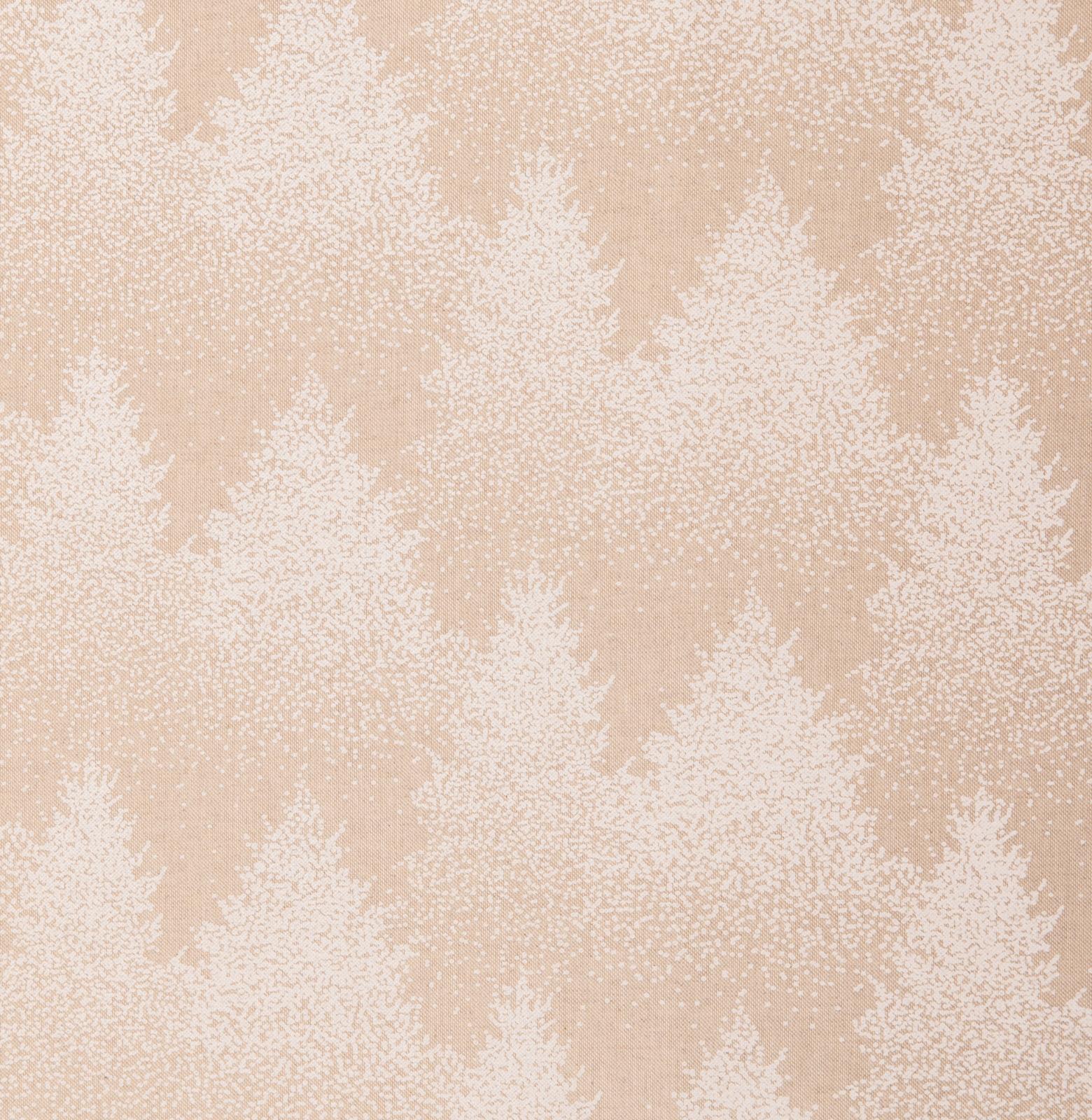 Dekostoff EUR/m Tannenbäume in weiß auf