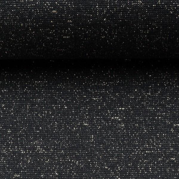 Bündchen EUR/m Glitzerbündchen schwarz silber Glitzer