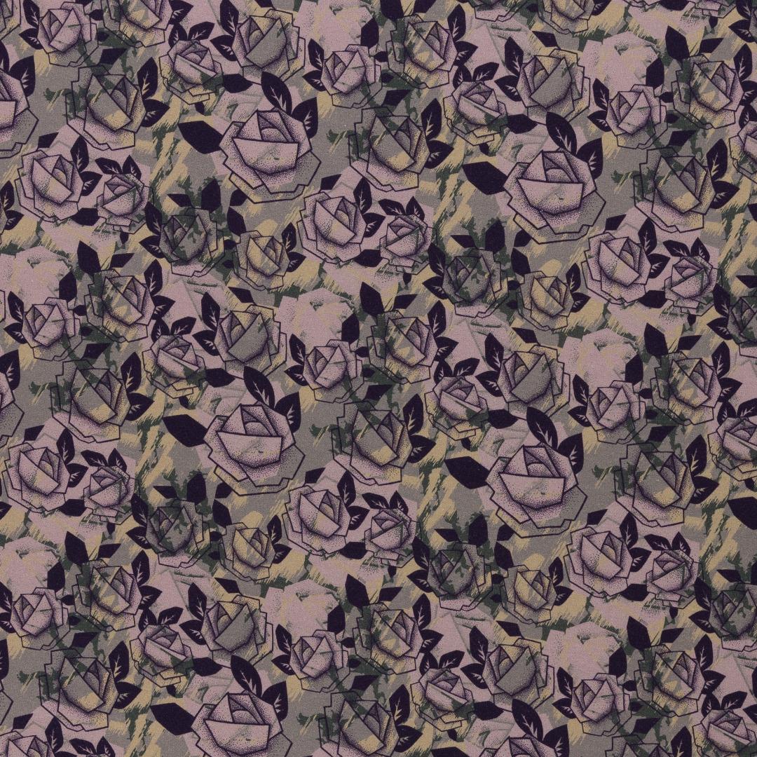Sweat EUR/m Rosen mit Camouflage Hintergrund