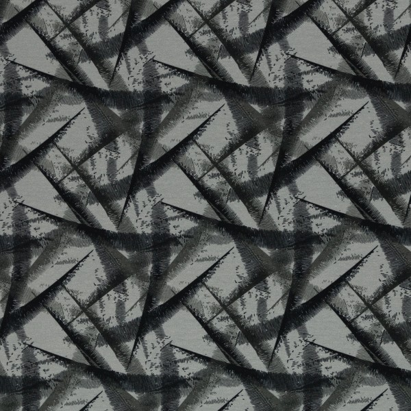 Sweat EUR/m grau schwarz abstrakt gemustert