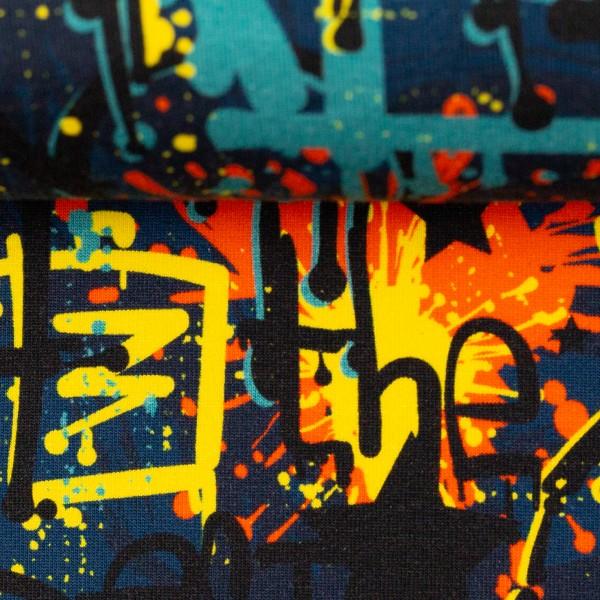 Sweat EUR/m Graffiti blau Toronto Swafing